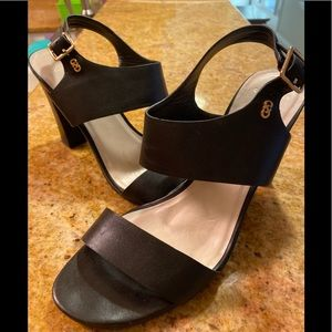 COLE HAAN black and gold sandal heels 9.5B